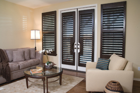 black-paint-french-door-shutter
